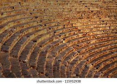 Ancient Greek theater in Pamukkale, Turkey