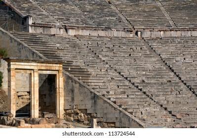 Ancient Greek Theatre, Epidaurus, Peloponnese, Greece