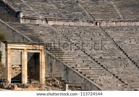 when did ancient greek theatre begin