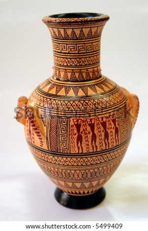 Ancient Greek Vase On White Background Stock Photo Edit Now