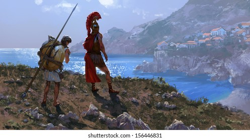 The ancient Greek warrior
