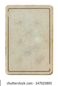 ancient and grunge isolated on white playing card paper empty  background with line