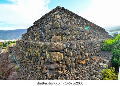 Ancient Guanche Guimar Pyramids in Tenerife Island