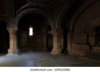 Ancient Haghartsin monastery indoor. Armenia
