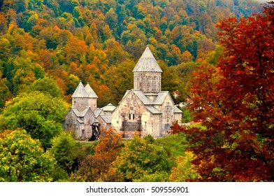 The ancient Haghartsin monastery is located near the town of Dilijan, in a wooded valley. Armenia