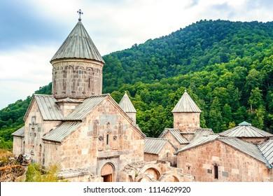 The ancient Haghartsin monastery. Old christianity church. Armenia