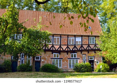 Ancient half-timbered house, Luneburg, Germany.