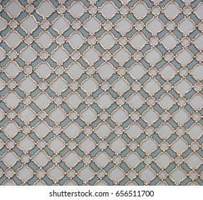 Ancient hand made Turkish - Ottoman tiles, in Topkapi palace, Istambul, Turkey