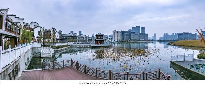 Ancient Hefei City, Anhui Province, Landscape Architecture Landscape