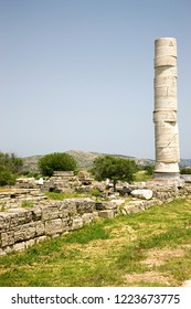 Ancient Heraion of Samos, the sanctuary devoted to the goddess Hera. It is an UNESCO World Heritage Site since 1992.