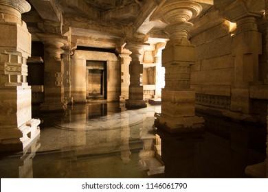 Ancient hindu temple in Hampi heritage park in Karnataka, India.