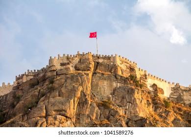 ancient historic castle in Afyon Karahisar, Turkey