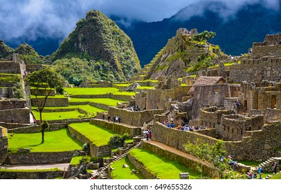 Ancient Inca city of Machu Picchu, Peru panoramic landscape