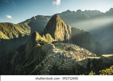 Ancient inca city, Peruvian Andes