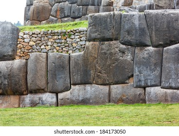 Ancient Inca fortress Saksaywaman near Cusco in Sacred Valley, Peru. (since 1983  was added as part of the city of Cusco to the UNESCO World Heritage List)