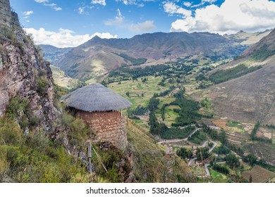 Ancient Inca's ruins in Pisac village, Sacred Valley of Incas, Peru