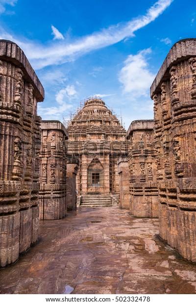 Ancient Indian Architecture Konark Sun Temple Stock Photo (Edit Now