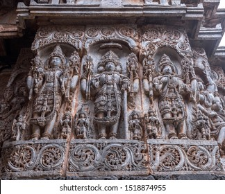The ancient Indian temples and carvings