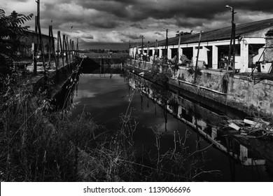 Ancient industrial instalations dry dock