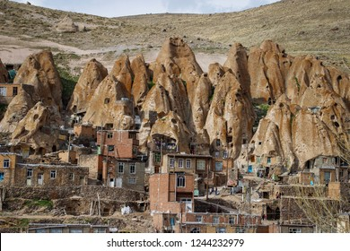 Ancient Iranian cave village in the rocks of Kandovan. The legacy of Persia. UNESCO
