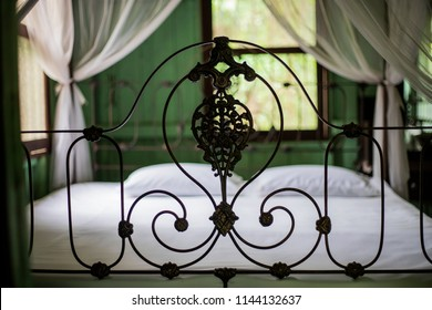 Ancient iron bed