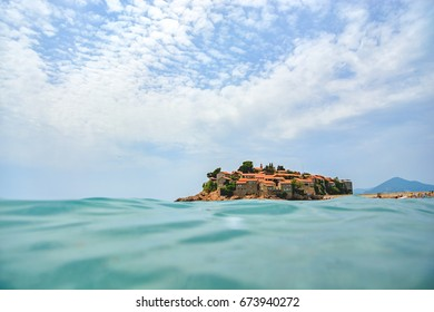Ancient island of St. Stephen in Montenegro, Budva