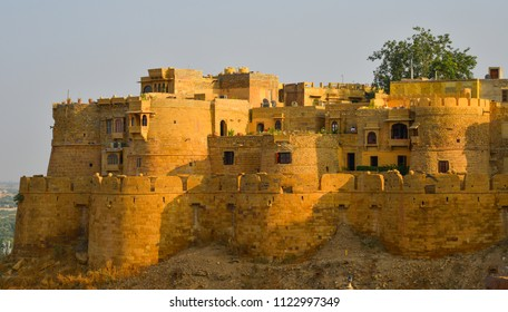 Ancient Jaisalmer Fort of Rajasthan, India. Jaisalmer Fort is the second oldest fort in Rajasthan, built in 1156 AD.