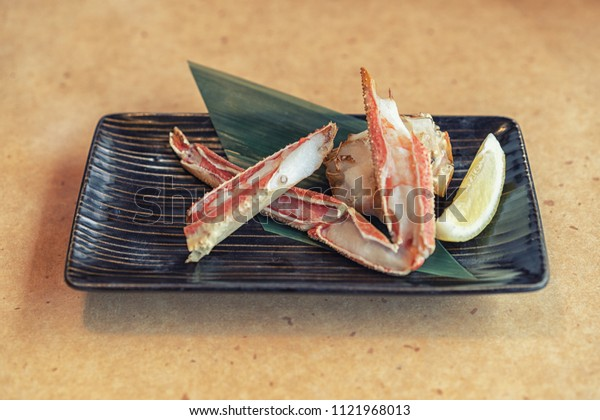 Ancient japanese crab plate