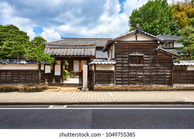 Ancient japanese samurai house on the famous Shiomi Nawate street in Matsue