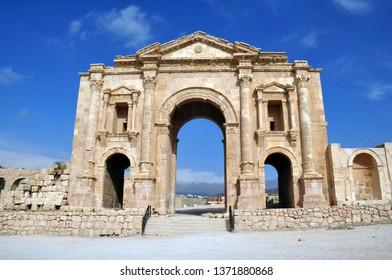 Ancient Jerash city in Jordan