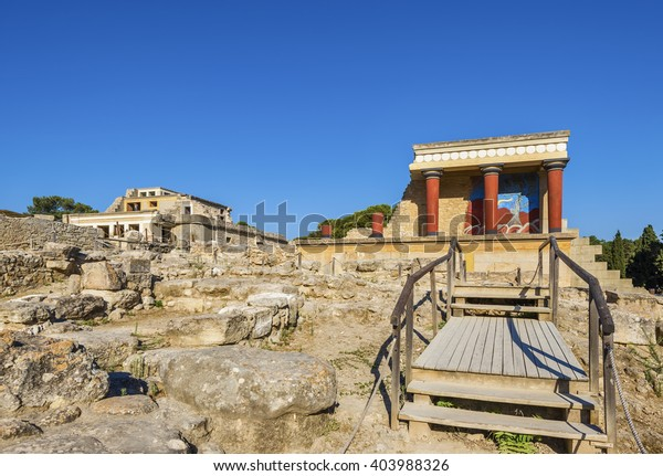 Ancient Knossos Herakleion Crete island Greece