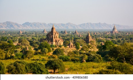 Ancient Land of Bagan from Shwesandaw Temple, Bagan