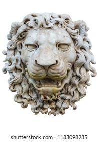 ancient lion relief isolated on white from Venice, Italy