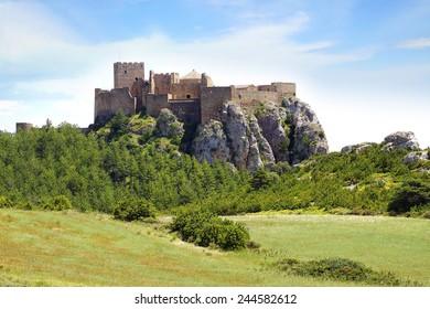 Ancient Loarre Castle -Castillo de Loarre- in Loarre, Spain