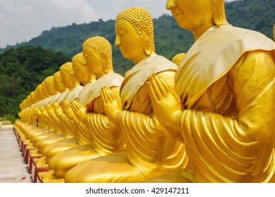 Ancient Lord Buddha Statue Nakhon Nayok Province in thailand