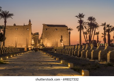 The ancient Luxor temple, Luxor, Egypt