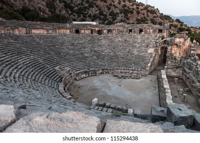 Ancient lycian Myra Greek theatre ruins at Turkey Demre