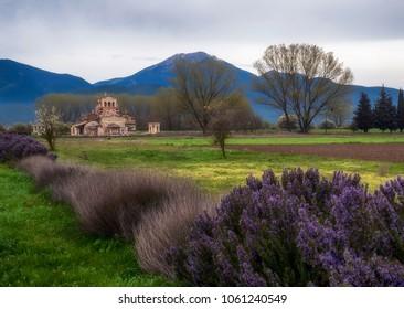 Ancient Mantinea and the church of Saint Fotini, Greece