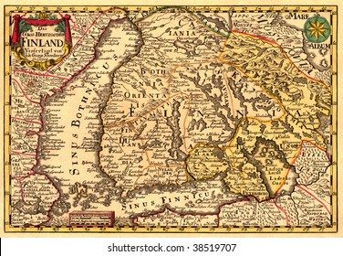 Ancient map of Finland (17 centuries)