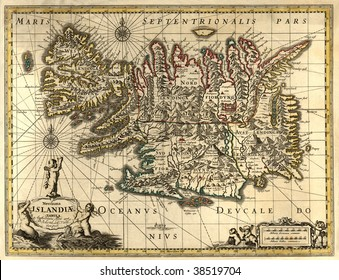 Ancient map of Iceland (17 centuries)