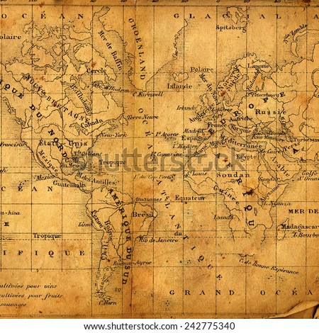 Ancient Map North South America Africa Stock Photo Edit Now