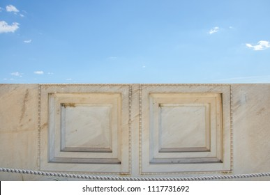 Ancient marble slab texture at The Acropolis of Athens. Greece