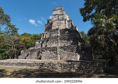 Ancient maya building at Muyil (Chunyaxché) Archaeological site, Quintana Roo, Mexico