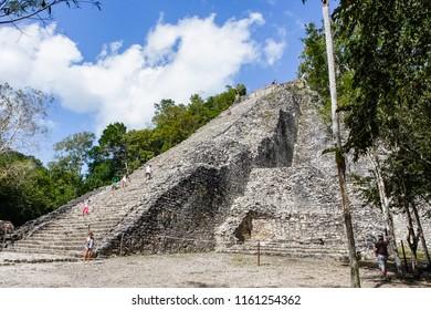 Ancient mayan city Coba in, Mexico.