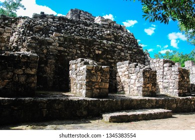 Ancient mayan city of Coba, in Mexico. Coba is an archaeological area and a famous landmark of Yucatan Peninsula.