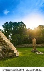 Ancient Mayan city of Copan in Honduras.