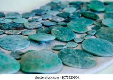 Ancient mayan jade necklace