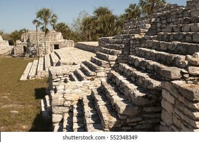 Ancient Mayan ruins in Progreso, Mexico