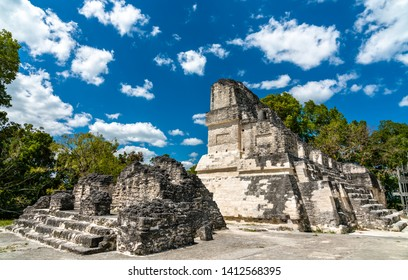 Ancient Mayan ruins at Tikal. UNESCO world heritage in Guatemala