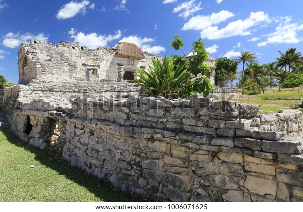 the ancient mayan ruins in Tulum, Mexico, near Playa del carmen